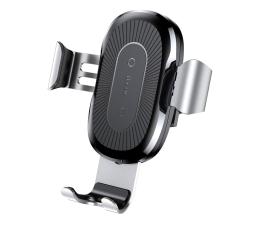 Uchwyt do smartfonów Baseus Uchwyt z ładowarką indukcyjną 10W (srebrny)
