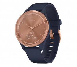 Zegarek sportowy Garmin vivomove 3S różowozłoty - granatowy