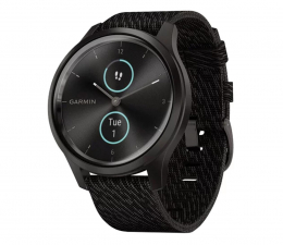 Zegarek sportowy Garmin vivomove 3 Style czarny Gorilla Glass