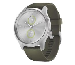 Zegarek sportowy Garmin vivomove 3 Style srebrno - zielony Gorilla Glass