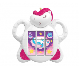 Zabawka dla małych dzieci Dumel Discovery Jednorożec 3x układanka 74147