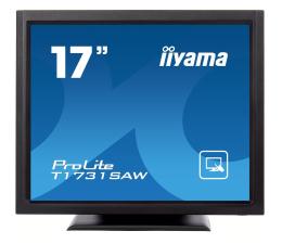 """Monitor LED 21"""" i mniejszy iiyama T1731SAW-B5 dotykowy"""