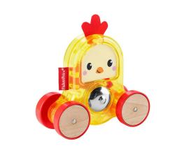 Zabawka dla małych dzieci Fisher-Price Kolorowe zwierzątka Pojazd Kogucik