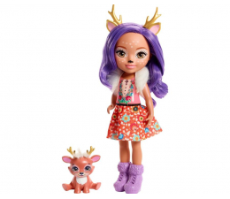 Lalka i akcesoria Mattel Enchantimals Duża lalka Danessa Deer i Sprint 31cm