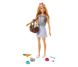 Lalka i akcesoria Barbie Lalka ze zwierzątkami Blondynka