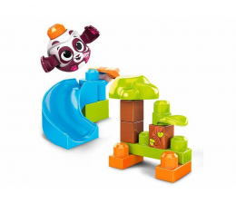Klocki Mega Bloks Klocki A kuku Zjeżdżalnia + Panda