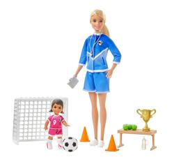 Lalka i akcesoria Barbie Trenerka piłki nożnej Zestaw