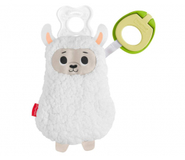 Zabawka dla małych dzieci Fisher-Price Clipimals Schowek i zawieszka do smoczka Lama