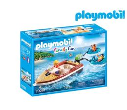 Klocki PLAYMOBIL ® PLAYMOBIL Łódź motorowa z pontonami
