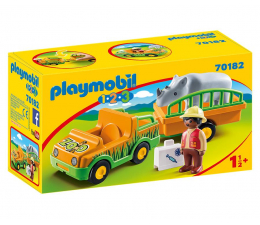 Klocki PLAYMOBIL ® PLAYMOBIL Pojazd do transportu nosorożca