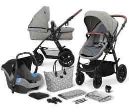Wózek dziecięcy wielofunkcyjny Kinderkraft 3w1 XMOOV Grey