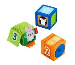 Zabawka dla małych dzieci Fisher-Price Kolorowe zwierzątka klocki sensoryczne