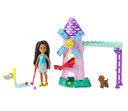 Lalka i akcesoria Barbie Chelsea Mini golf Zestaw z lalką
