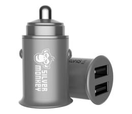 Ładowarka do smartfonów Silver Monkey Ładowarka samochodowa 2x USB, 24W