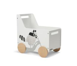 Akcesoria do pokoju dziecięcego Kinderkraft Skrzynia na zabawki Raccoon
