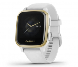 Zegarek sportowy Garmin Venu Sq złoto biały