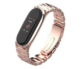 Pasek / bransoletka Tech-Protect Bransoleta Stainless do Xiaomi Mi Band 5 rose gold