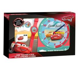 Zabawka edukacyjna EUROSWAN Zestaw do nauki o czasie z zegarkiem i kartami do gry Cars