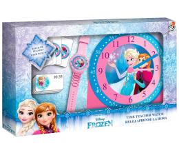 Zabawka edukacyjna EUROSWAN Zestaw do nauki o czasie z zegarkiem i kartami do gry Frozen