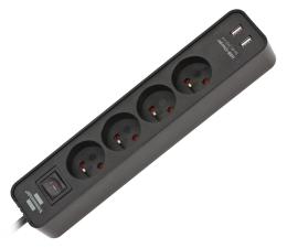 Listwa zasilająca Brennenstuhl Ecolor - 4 gniazda, 2x USB, 1.5m, czarna