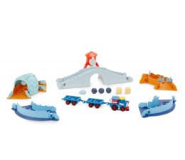 Pojazd / tor i garaż Little Tikes Slammin' Racers Arena z pociągiem Runaway Railroad