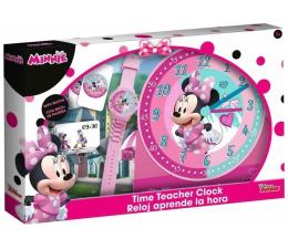 Zabawka edukacyjna EUROSWAN Zestaw do nauki o czasie z zegarkiem i kartami do gry Minnie