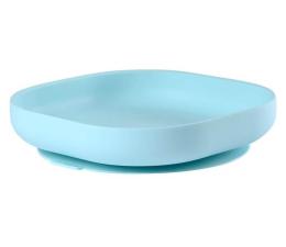 Miska / talerzyk dla dzieci Beaba Silikonowy talerzyk z przyssawką blue