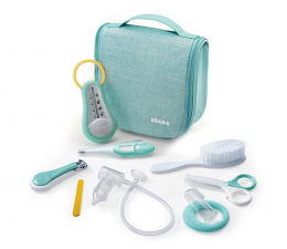 Akcesoria pielęgnacyjne Beaba Kosmetyczka z 9 akcesoriami do pielęgnacji niemowląt mint