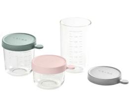 Pojemnik / woreczek na pokarm Beaba Zestaw pojemników słoiczków szklanych 150 + 250 + 400 ml