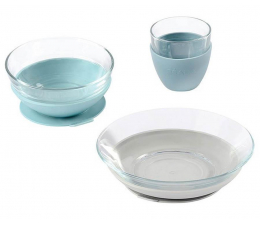 Miska / talerzyk dla dzieci Beaba Komplet naczyń z hartowanego szkła Duralex®