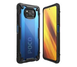 Etui / obudowa na smartfona Ringke Fusion X do Xiaomi POCO X3 czarny
