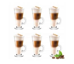 Akcesoria do ekspresów PLM Zestaw 6 szklanek do latte 250 ml