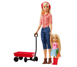 Lalka i akcesoria Barbie Barbie i Chelsea na farmie