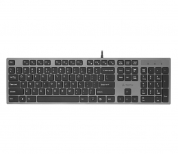 Klawiatura  przewodowa A4Tech KV-300H Slim szaro-czarna USB