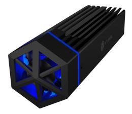 Obudowa dysku ICY BOX Obudowa do dysku M.2 NVMe (RGB)