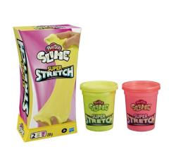 Zabawka plastyczna / kreatywna Play-Doh Slime Super stretch 2-pak żółty i różowy