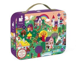 Puzzle dla dzieci Janod Puzzle obserwacyjne w walizce Baśnie 24 elementy 3+