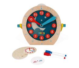 Zabawka edukacyjna Janod Drewniany zegar do nauki o czasie Essentiel