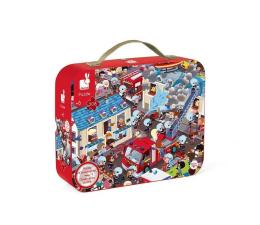 Puzzle dla dzieci Janod Puzzle obserwacyjne w walizce okrągłe Straż pożarna 208 elem
