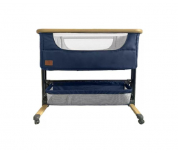 Łóżeczko dostawne Lionelo Timon 3w1 Blue Navy łóżeczko dostawne + materac