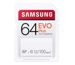 Karta pamięci SD Samsung 64GB SDXC EVO Plus 100MB/s