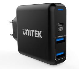 Ładowarka do smartfonów Unitek Ładowarka sieciowa 2x USB 2,4A + QC 3.0 60W PD