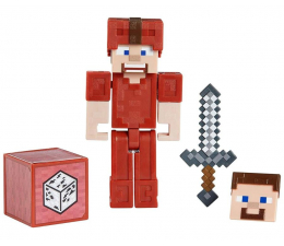 Figurka Mattel Minecraft Comic Maker Steve w skórzanej zbroi