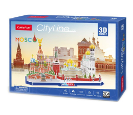Puzzle do 500 elementów Cubic fun Puzzle 3D City Line Moskwa