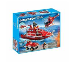 Klocki PLAYMOBIL ® PLAYMOBIL Łódź strażacka z helikopterem