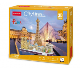 Puzzle do 500 elementów Cubic fun Puzzle 3D City Line Paris