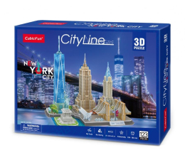 Puzzle do 500 elementów Cubic fun Puzzle 3D City Line New York