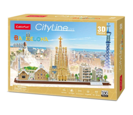 Puzzle do 500 elementów Cubic fun Puzzle 3D City Line Barcelona