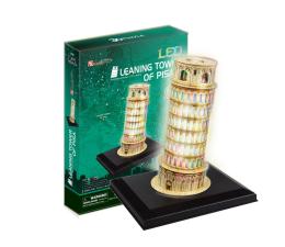 Puzzle do 500 elementów Cubic fun Puzzle 3D Krzywa Wieża w Pizie LED