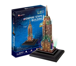 Puzzle do 500 elementów Cubic fun Puzzle 3D Empire State Building Led